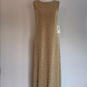 Ronni Nicole Gold Maxi Dress Size 14